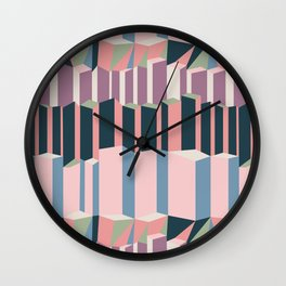Straight Geometry City 1 Wall Clock