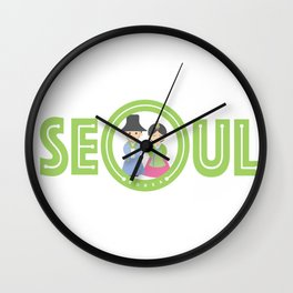 Seoul - Koreans in Traditional Costumes Wall Clock