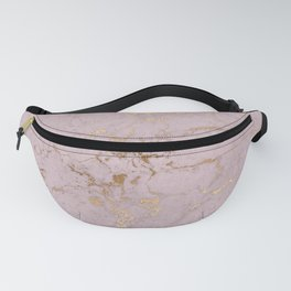 Chic mauve pink gold elegant stylish marble Fanny Pack
