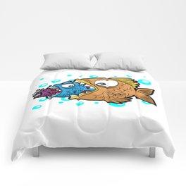 BIG MEDIUM SMALL FISH EATING Food Chain Gift Comic Comforters
