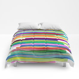 Colorful Stripes 1 Comforters