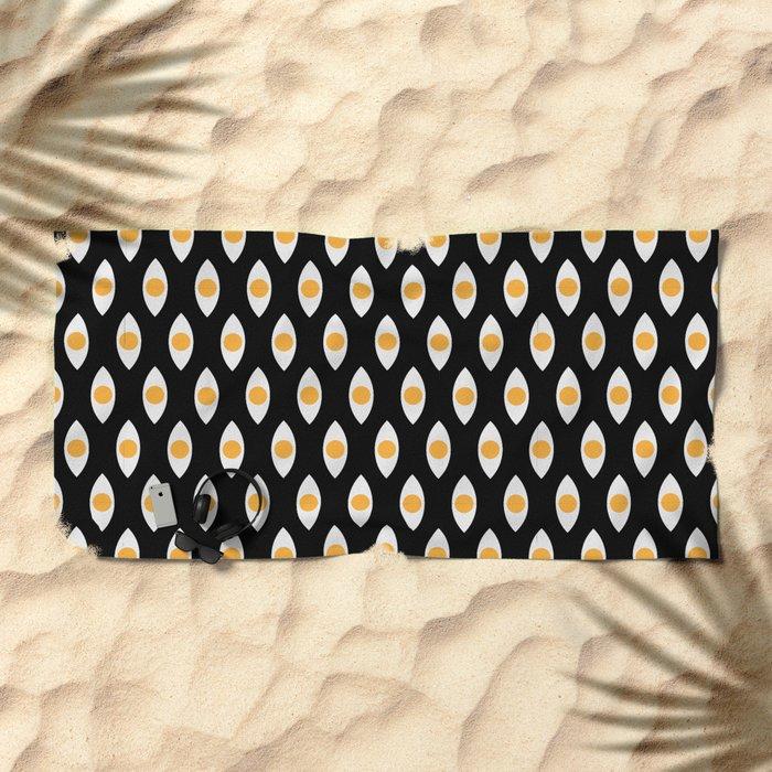 eye pattern Beach Towel