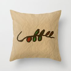 Coffee Branch Throw Pillow