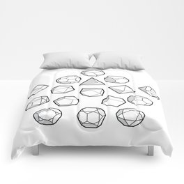 Platonic solids Mega Comforters