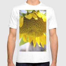 Take Cover [SUNFLOWER] MEDIUM White Mens Fitted Tee
