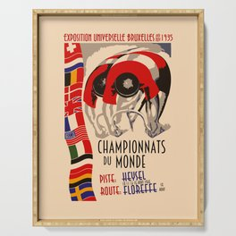 Retro cycling world championships 1935 Brussels Serving Tray