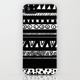Black and white native iPhone Case