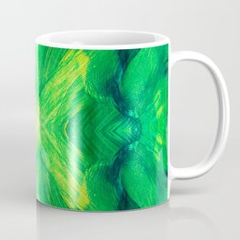 Brush play in hues of green 13 Coffee Mug