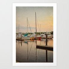 Wilmington City Docks on the Riverwalk Art Print