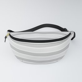 Large Horizontal Christmas Silver Platinum Burnished Metal Bed Stripe Fanny Pack