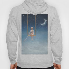 The lovely girl shakes on a swing Hoody
