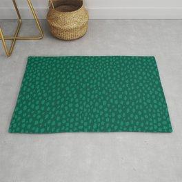 Emerald Green Spots Rug