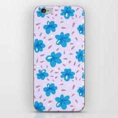 Gentle Blue Flowers Pattern iPhone & iPod Skin