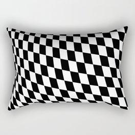 Warped Checkerboard Rectangular Pillow