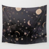 constellations Wall Tapestries featuring Constellations  by Nikkistrange