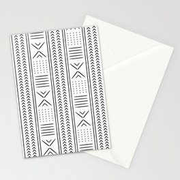 mud cloth in black and white Stationery Cards
