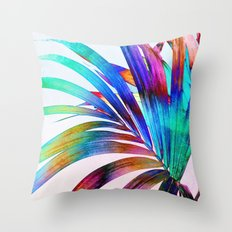 Multicolor Palm Leaf Throw Pillow