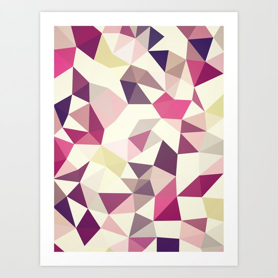 Rose Garden Tris Art Print