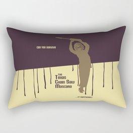 Can You Survive The Texas Chain Saw Mascara Rectangular Pillow