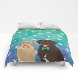 Labrador Retrievers Watercolor Comforters