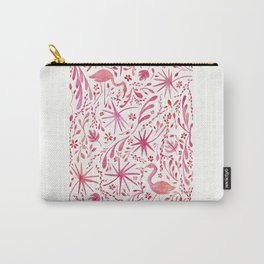Flamingos at the Beach Carry-All Pouch