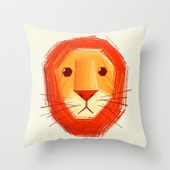 Sad lion Throw Pillow
