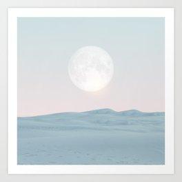 Pastel desert II Art Print