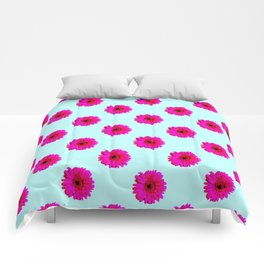 Pixel Art Flower Pattern Comforters