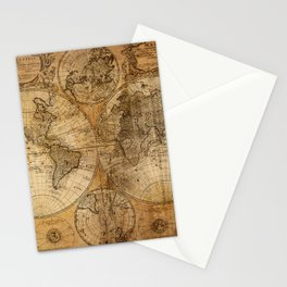 World Map 1746 Stationery Cards