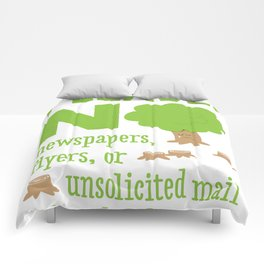 No Junk Mail Sign Comforters