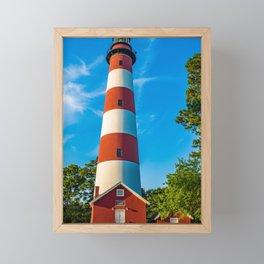 Assateague Lighthouse Framed Mini Art Print