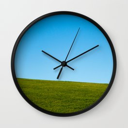 Grass and Sky Wall Clock