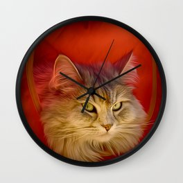 Cleopatra in her little cat house Wall Clock