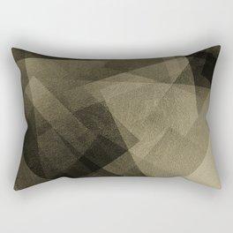 Black and Gold - Digital Geometric Texture Rectangular Pillow