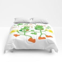 Don't worry Be Irish Comforters