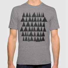 Analogous Shapes. Tri-Grey MEDIUM Mens Fitted Tee