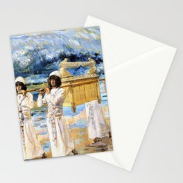 James Tissot - The Ark Passes Over the Jordan - Digital Remastered Edition Stationery Cards