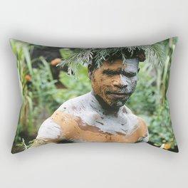 Papua New Guinea Villager Rectangular Pillow