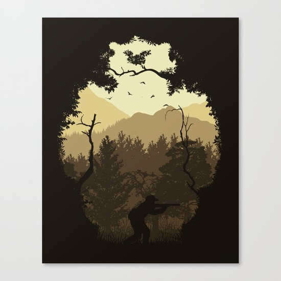 Hunting Season - Brown Canvas Print
