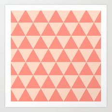 Coral Triangles Art Print