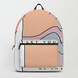 """Ocean Surf """"Let Your Happiness Be the Waves"""" // Chill Retro Minimalist Colorful California Summer  Backpack"""
