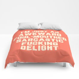 Awkward Fucking Delight Funny Quote Comforters