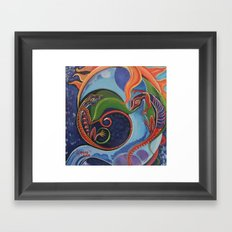 Lizard Moon Framed Art Print