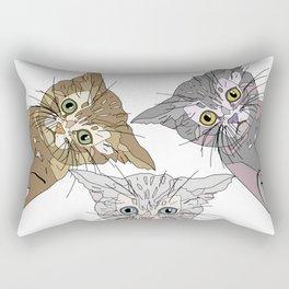 Triple Kitties - Three's Company Rectangular Pillow