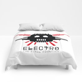 Electro - The Final Frontier - for light backgrounds only Comforters