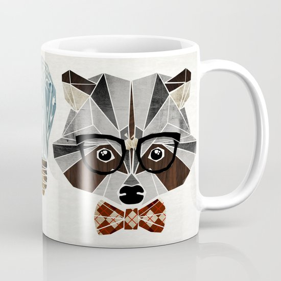 raccoon nerd Mug