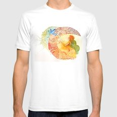 I love you free MEDIUM Mens Fitted Tee White