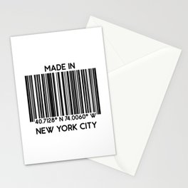 made in New York City NYC (barcode) Stationery Cards