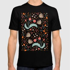 Floral Fusion 2X-LARGE Mens Fitted Tee Black