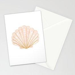 Seashell illustration in modern folk style  Stationery Cards